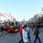 観光名所のひとつヴァーツラフ広場