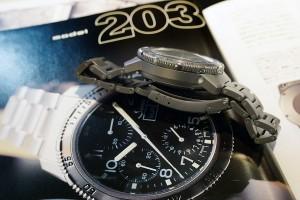 当時は、ドライカプセルにアルゴンガスという時計界初のテクノロジーを採用した話題作。現在でも同テクノロジーを使用している時計メーカーはSinn社のみ
