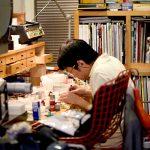 浅岡さんは、制作時に手元や製作風景を見られるをあまり好まれない